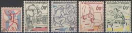 / 1965 - Tchécoslovaquie 1369 - 1373 (o). - Gebraucht