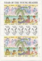 Palau,  Scott 2014 # 220,  Issued 1989,  M/S Of 20,  MNH,  Cat $ 9.50,  Literacy - Palau