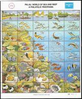Palau,  Scott 2018 # 103,  Issued 1986,  Sheet Of 40,  MNH,  Cat $ 37.50,  Marine Life - Palau