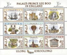 Palau,  Scott 2017 # 235,  Issued 1990,  S/S Of 9,  MNH,  Cat $ 4.50,  Balloon - Palau