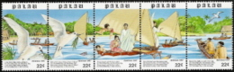 Palau,  Scott 2013 # 177a,  Issued 1987,  Strip Of 5,  MNH,  Cat $ 3.00, Birds - Palau