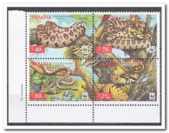 Ukraïne 2002, Postfris MNH, Snakes, WWF - Oekraïne