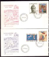 D5   Italy 1965 FDC 700th Birth Anniv DANTE ALIGHIERI Poet, Famous People - Stamps Mi.1188-1191 - Writers