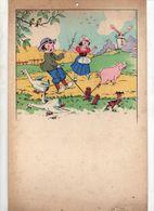 Illustration Couleur D'enfants à La Ferme Sur Carton Dur - Other Collections