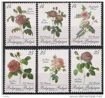 Belgie Belgique 1990 Yvert 2370-75 *** Mnh Cote 39 Euro Fleurs Roses - Belgique