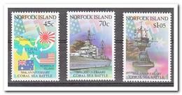 Norfolk 1992, Postfris MNH, Coral Sea Battle, Ships - Norfolk Eiland