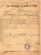 VP11.859 - MARNE - Commune De GUEUX 1923 - Déclaration D'Assurance Contre L'Incendie - Bank & Insurance