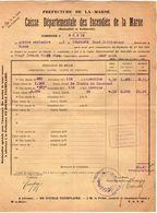 VP11.860 - MARNE - Commune De GUEUX 1923 - Déclaration D'Assurance Contre L'Incendie - Bank & Insurance