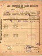 VP11.861 - MARNE - Commune De GUEUX 1923 - Déclaration D'Assurance Contre L'Incendie - Bank & Insurance