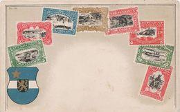 Philatelie Litho AK Kongo Congo Kinshasa Zaire Brazzaville Belgisch Französisch Kolonie Briefmarke Stamp Timbre Colonie - Timbres (représentations)