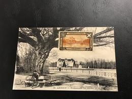 38 - ANNECY Promenade Du Jardin Et La Prefecture - Vignette Cinquantenaire De L'annexion De La Savoie Par La France 1910 - Annecy