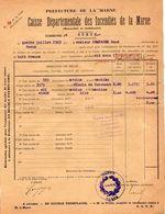 VP11.863 - MARNE - Commune De GUEUX 1923 - Déclaration D'Assurance Contre L'Incendie - Bank & Insurance