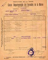 VP11.864 - MARNE - Commune De GUEUX 1923 - Déclaration D'Assurance Contre L'Incendie - Bank & Insurance