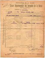 VP11.865 - MARNE - Commune De GUEUX 1922 - Déclaration D'Assurance Contre L'Incendie - Bank & Insurance