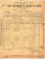 VP11.866 - MARNE - Commune De GUEUX 1922 - Déclaration D'Assurance Contre L'Incendie - Bank & Insurance