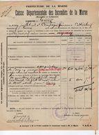 VP11.868 - MARNE - Commune De GUEUX 1922 - Déclaration D'Assurance Contre L'Incendie - Bank & Insurance