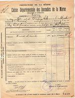 VP11.869 - MARNE - Commune De GUEUX 1922 - Déclaration D'Assurance Contre L'Incendie - Bank & Insurance