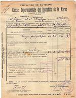 VP11.870 - MARNE - Commune De GUEUX 1922 - Déclaration D'Assurance Contre L'Incendie - Bank & Insurance