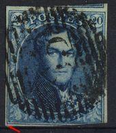 1849 - Nr 4 - Vingt Cents (°) Iets Dikker Papier - 1849-1850 Médaillons (3/5)