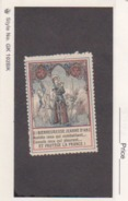 France WWI Jeanne D'Arc Vignette  Military Heritage Poster Stamp - Military Heritage
