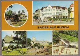 (L08)  BRD - AK : Bäder Auf Rügen / Baabe, Binz, Göhren, Sellin, Dampfzug Molli - Rügen