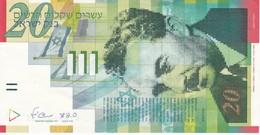BILLETE DE ISRAEL DE 20 SHEQEL DEL AÑO 2008 EN CALIDAD EBC (XF)  (BANKNOTE) - Israel
