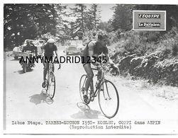 PHOTO - CYCLISME-TOUR DE FRANCE 1951 - FAUSTO COPPI ET FREDI KUBLER (20 Cm X 15 Cm) - Cycling