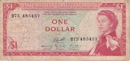 BILLETE DE EAST CARIBBEAN DE 1 DOLLAR DEL AÑO 1965  (BANKNOTE) - Caraïbes Orientales
