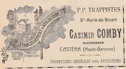 Petite Facture 1908 / Et. D' Apiculture / P.P. TRAPPISTES Ste Marie Du Désert / Casimir COMBY / 33 Castéra - Sonstige