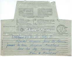 Télégramme Du 13-2-1940 - Mairie De Montbard (21) à Mairie De Carvin (62) - Telegraaf-en Telefoonzegels