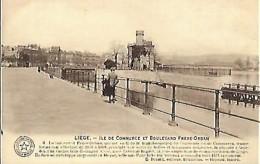 LIEGE - La Meuse : L'île De Commerce Et Boulevard Frère-Orban - Liege