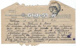 Télégramme Du 3-9-1945 - Sous-Préfet De Béthune (62) à Mairie De Carvin (62) - Bureaux De Vote - Télégraphes Et Téléphones