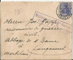 Env  Cad  MULHAUSEN  1916  Pour Un PG Allemand Dans Le MORBIHAN  TTB - Postmark Collection (Covers)