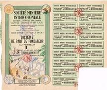 Action Ancienne - Société Minière Intercoloniale - Afrique Equatoriale Française - Titre De 1945 - Mines