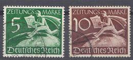 GERMANIA REICH -  1939 - Serie Completa Francobolli Per Giornali Yvert 1/2 Obliterati. - Usati