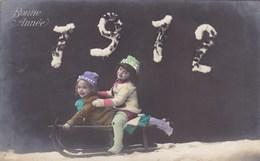 Happy New Year, Bonne Année Gelukkig Nieuwjaar 1912, Playing Children, Enfants Qui Jouent (pk43404) - Nouvel An