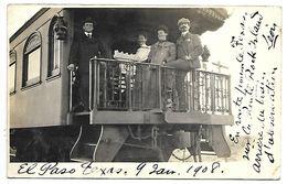 ETATS-UNIS - EL PASO TEXAS - Train - Février 1908 - CARTE PHOTO - Non Classés
