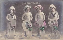 Happy New Year, Bonne Année Gelukkig Nieuwjaar 1913, 4 Children (pk43409) - Nouvel An