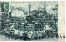 - Greeting From Honkong - Public Garden - Très Ancienne, Super Animation, épaisse, Rare, Non écrite, TBE, Scans.. - Chine