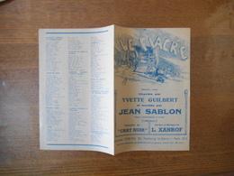LE FIACRE HISTOIRE VRAIE CHANTEE PAR YVETTE GUILBERT ET RECREEE PAR JEAN SABLON PAROLES ET MUSIQUE DE L.XANROF 1946 - Noten & Partituren