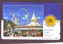 Télécarte Japon / 110-016 - DISNEY DISNEYLAND - Château Du Parc (6041 Castle Japan Phonecard Telefonkarte - Disney