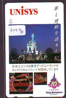 Télécarte Japon - 110-139289 - DISNEY / 10 YEARS TOKYO Disneyland Unisys CHATEAU (6043b) Japan Phonecard * Telefonkarte - Disney