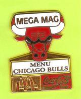 Pin's Mac Do McDonald's Coca-Cola Mega Mag Menu Chicago Bulls Taureau - #244 - McDonald's
