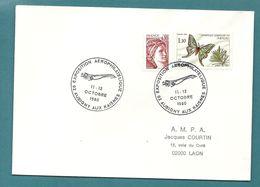 AISNE - AUBIGNY AUX KAISNES. Exposition Aérophilatélique. Thème Avion / Concorde. 1980 - Cachets Commémoratifs