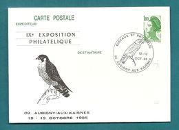AISNE - AUBIGNY AUX KAISNES. IXe Exposition Philatélique. OISEAUX ET PHILATELIE. 1985 - Postmark Collection (Covers)