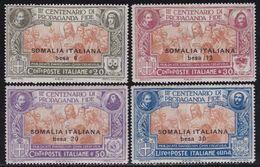 COLONIE ITALIANE SOMALIA 1923 Propaganda FIDE Serie Completa Nuovi TL Leggera Fresca - Somalie