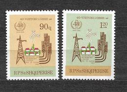 ALBANIA 1988, YVERT 2161/2162, MICHEL 2356/2357  MNH**. - Albanie