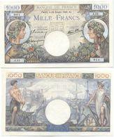 1000 FRANCS COMMERCE ET INDUSTRIE Type 1940 UNC - 1 000 F 1940-1944 ''Commerce Et Industrie''