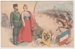 CPA- REIMS SEPTEMBRE 1901 -cavalerie- Drapeaux - Dép51-TBE - Reims