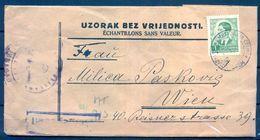 YUGOSLAVIA , SOBRE DE MUESTRAS SIN VALOR , CIRCULADO A VIENA , CENSURA - 1945-1992 République Fédérative Populaire De Yougoslavie